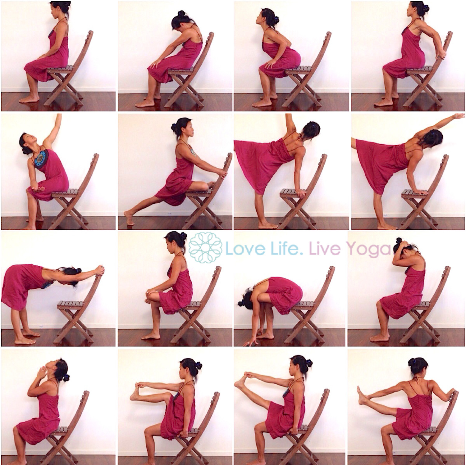 YOGA PRACTICE 15 mins Chair Yoga with Carmen Lee Schneider Love